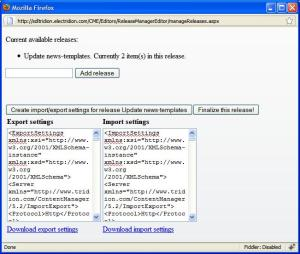 Releasesmanager SDL Tridion